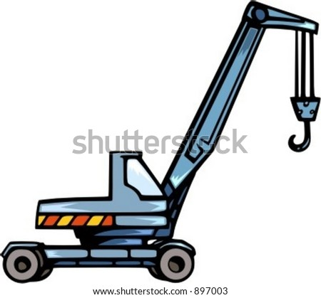 Crane Truckvector Illustration Stock Vector 897003 - Shutterstock