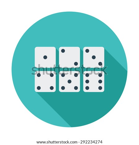 Craps. Flat vector icon for mobile and web applications. Vector illustration. - stock vector
