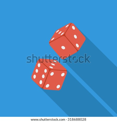 Craps icon. Flat vector related icon with long shadow for web and mobile applications. - stock vector