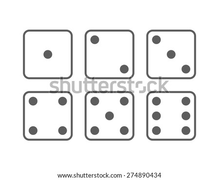 Craps icon set. Vector Illustration isolated on white background. - stock vector