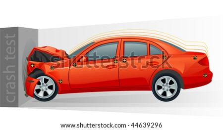 crash test - stock vector