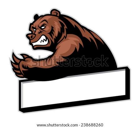 crawling bear - stock vector