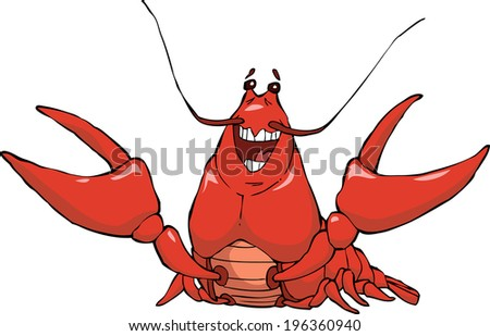 Crayfish on a white background vector illustration - stock vector