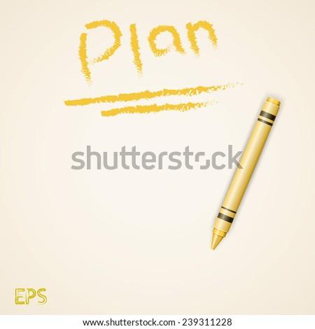 Crayon planner - stock vector
