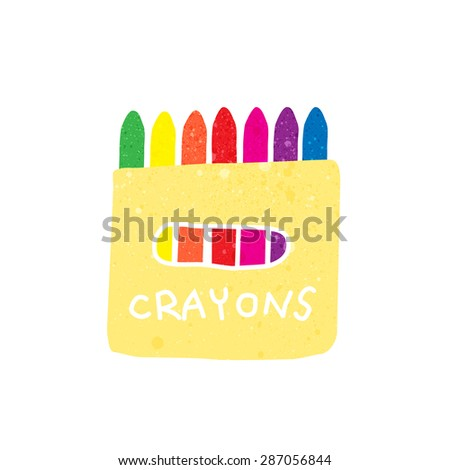 crayons with texture vector illustration. - stock vector