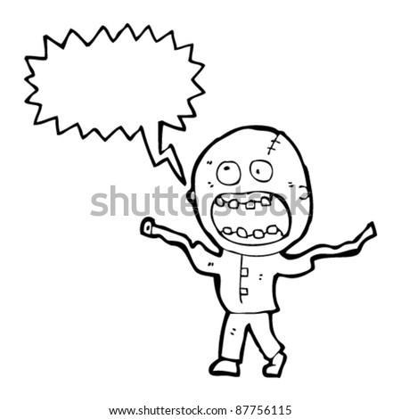 crazy insane madman cartoon - stock vector