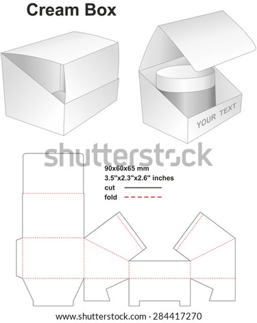 Cream box - stock vector