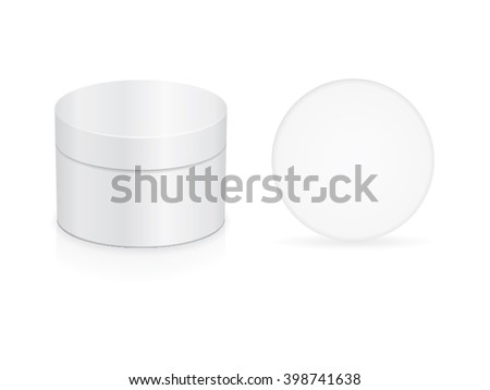 cream jar for your design Mock up EPS 10 Vector transparent shadows - stock vector