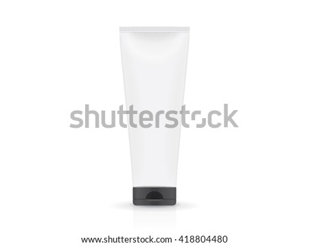 cream jar for your design Vector EPS10 Mockup Easily change the color of the packaging - stock vector