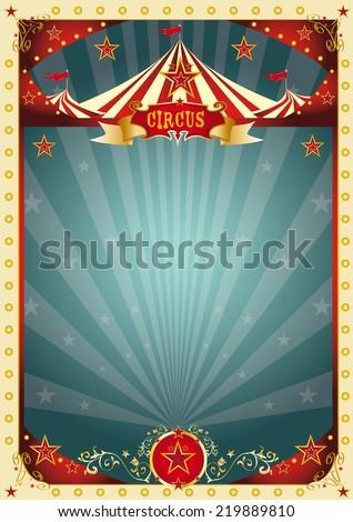 cream retro circus background. A retro circus poster for your entertainment. - stock vector