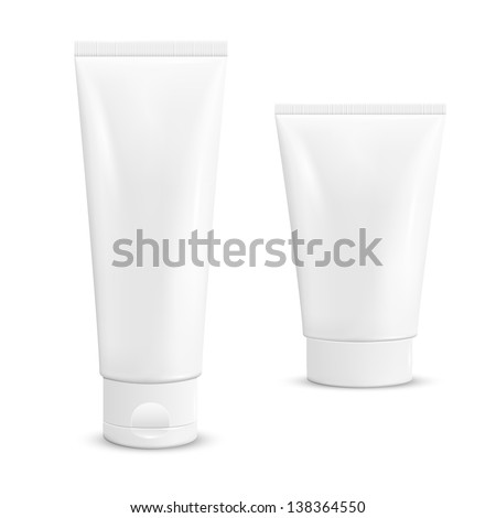 Cream tubes. Vector illustration.