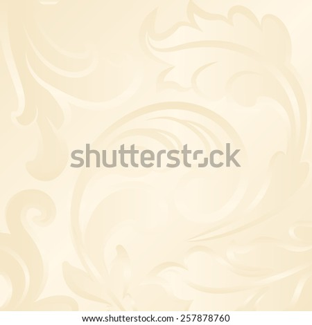 creamy background with abstract floral ornament - stock vector