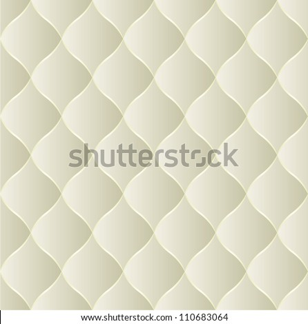 creamy seamless background - quilted fabric - stock vector