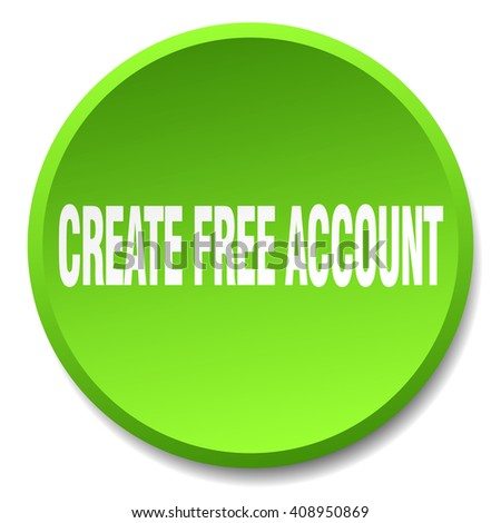 create free account green round flat stock vector 408950869