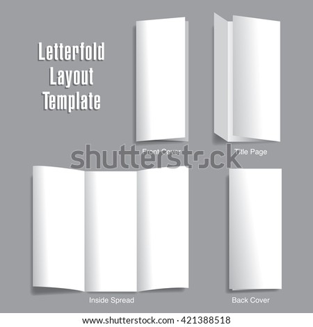 Create stunning presentations by placing you art into this layout template - stock vector