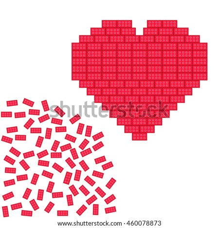 create your love vector on the white background