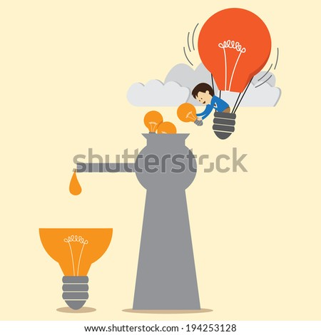 Creating big ideas and small ideas. - stock vector