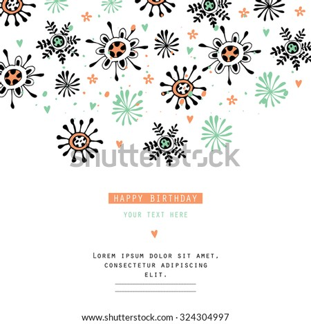 Creating card, invitation card, and other holiday and summer background. Floral abstract background