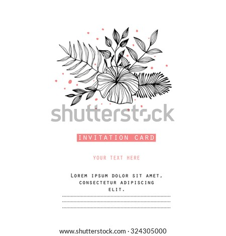 Creating card, invitation card, and other holiday and summer background. Floral abstract background - stock vector