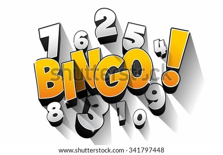 Creative Abstract Bingo Jackpot symbol vector illustration - stock vector