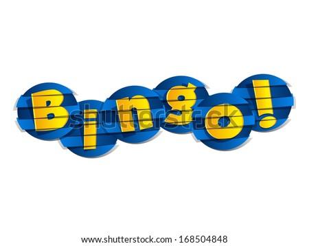 Creative Abstract Bingo vector illustration - stock vector