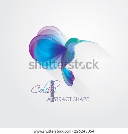 creative abstract colibri hummingbird symbol vector illustration- logo element - stock vector