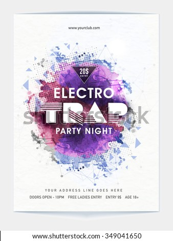 Creative abstract design decorated, Template, Banner or Flyer design for Musical Night Party celebration. - stock vector
