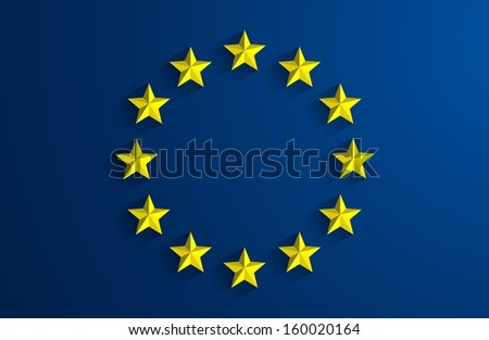 Creative Abstract Flag of European Union Backgroung - stock vector