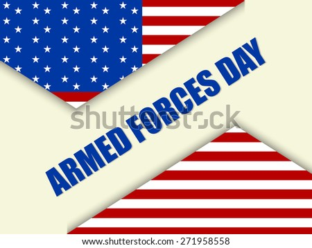 Creative abstract for Armed Forces Day with US Flag in a creative gradient white colour background. - stock vector