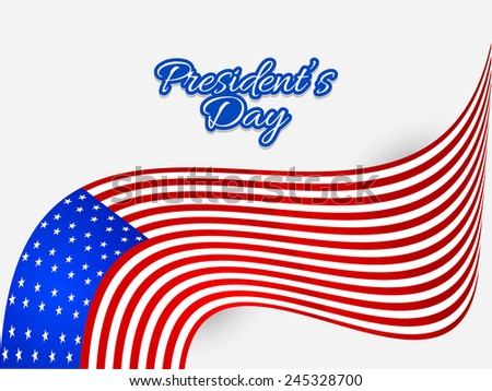 Creative Abstract for President Day with American flag - stock vector