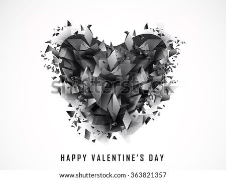 Creative abstract heart for Happy Valentine's Day celebration.