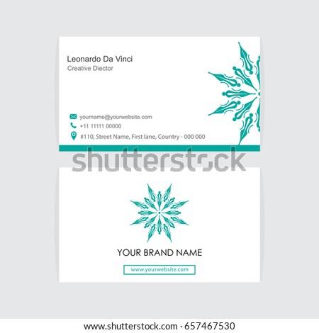 Creative abstract logo visiting card design stock photo photo creative abstract logo and visiting card design modern and simple business card with vector illustration colourmoves