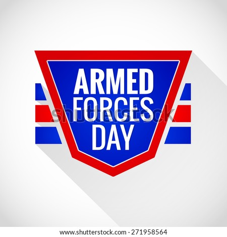 Creative Abstract or Badge for Armed Forces Day with nice and creative white gradient colour background. - stock vector