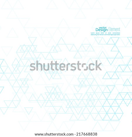 Creative abstract triangle pattern. Polygonal mosaic  background. Hipster cover. For packaging, fabric, websites, printing, booklet, flyer, banner, mobile app, annual report template - stock vector