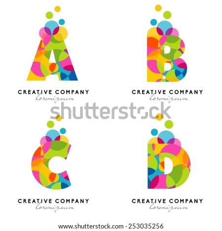 Creative Alphabet Letters Logo Vector Colorful