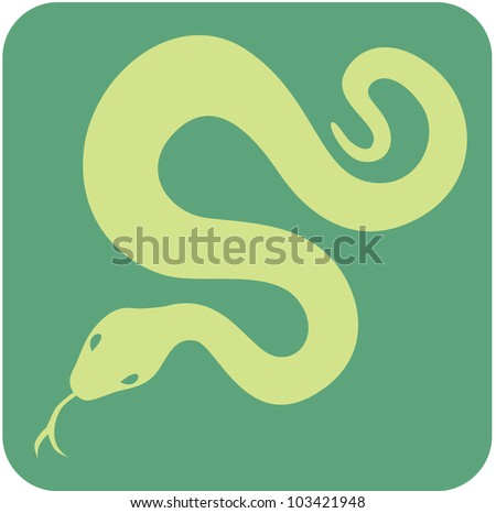Creative Anaconda Icon - stock vector