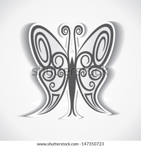 creative and artistic design of butterfly stock vector