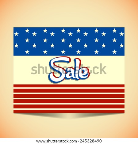 Creative and beautiful Abstract for President Day sale with golden background - stock vector