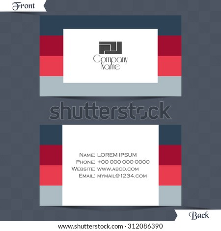 creative and beautiful vector abstract for Business Card or Visiting Card in a beautiful dual user interface with multicolour stripe design with white patch in a background. - stock vector