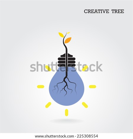 Creative and knowledge tree concept. Education and business sign. Vector illustration - stock vector
