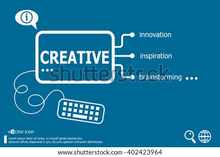 Creative and marketing concept. Business concept - stock vector
