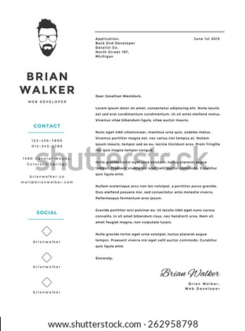 Cover letter stock images royalty free images vectors for Free creative cover letter templates