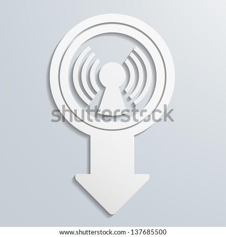 creative arrow icon, eps10 vector - stock vector