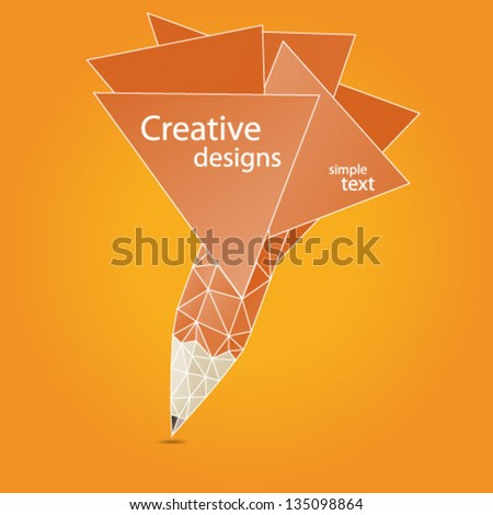 creative artistic concept pencil in cloud vector illustration - stock vector
