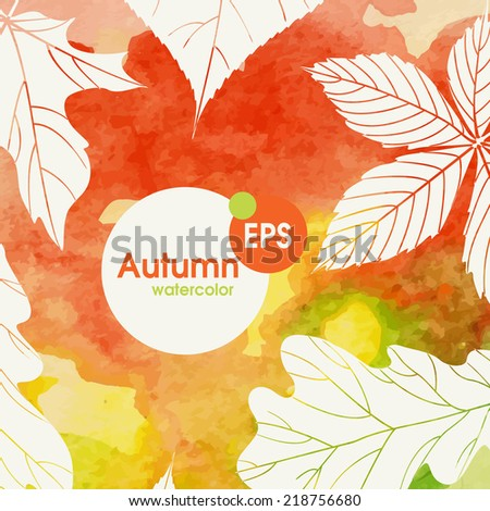 Creative Autumn Background.  Vector Illustration. Eps 10 - stock vector