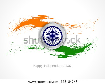 Creative background for Indian Republic day and Independence Day. Vector illustration - stock vector