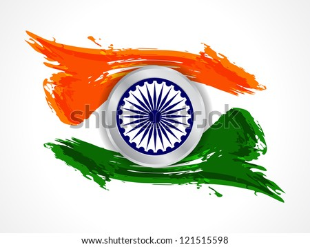 Creative background for Republic day and Independence Day. Vector illustration - stock vector