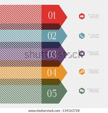 Creative banner-arrow design for infographics,website templates or design graphic for business. Vector EPS10 - stock vector