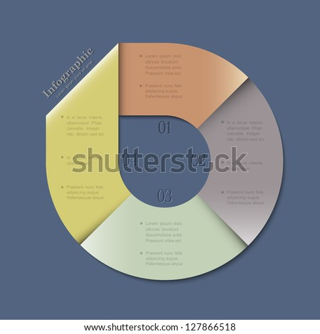 Creative banner design template for infographics and website templates or design graphic for business. Vector EPS10 - stock vector