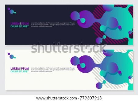 Creative Banner Design 3d Style Geometric Stock Vector 779307913
